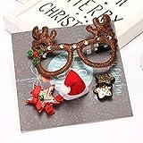 Accesorios para el cabello de Navidad del Año Nuevo 2018 Cuerda para el cabello, horquilla, caja de regalo de 5 piezas de dibujos animados, adornos navideños, A4