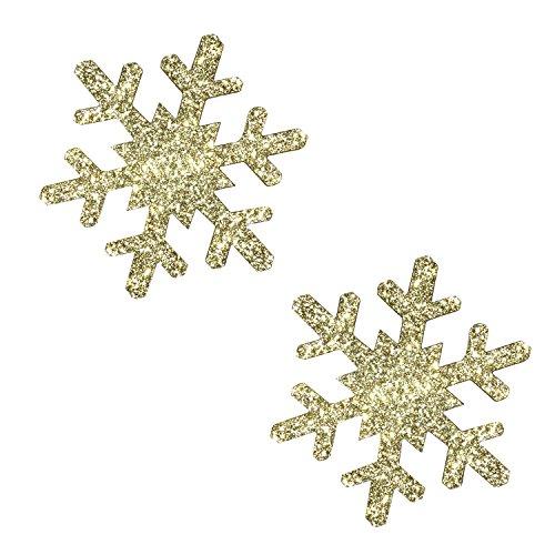 Neva Nude Gold Fairy Dust Glitter Snowflake Nipztix Pasties Nipple Covers
