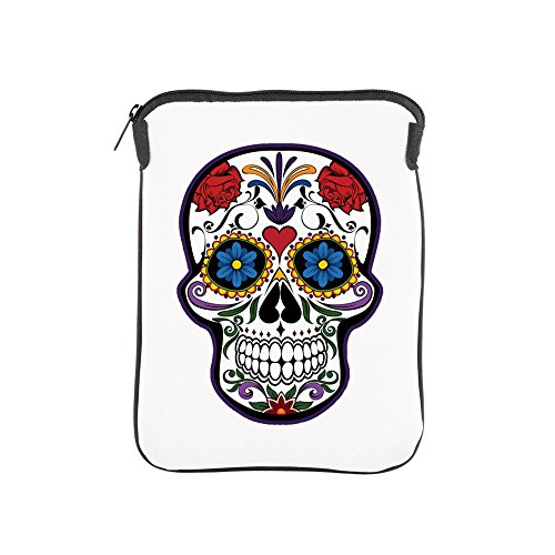 iPad 1 2 3 4 Air II Sleeve Case (2-Sided) Floral Sugar Skull Day of the Dead]()