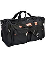 25 Heavy Duty Duffle Bag/ Sports Travel Luggage/ Tote Bag/Over Night Bag/Black …