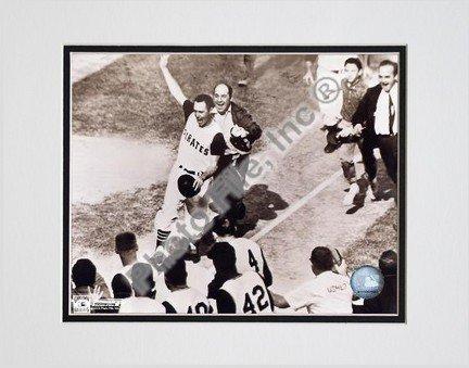 Bill Mazeroski, Pittsburgh Pirates, 1960 World Series Winning Home Run, Sepia, Double Matted 8