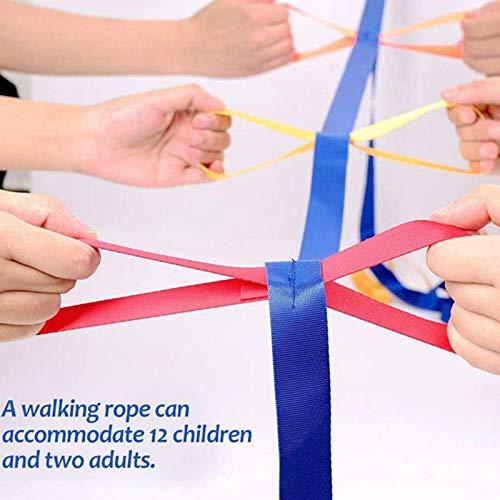Spazierleine f/ür 12 Kinder buntes Kleinkind-Gehseil f/ür bis zu 12 Kinder Anti-Verlust-Baby-Kinder-Sicherheits-Gehseil SHATANG Sicherheits-Gehseil