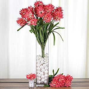Tableclothsfactory 36 Artificial Agapanthus Flowers for Wedding Arrangements - 4 Bushes 1
