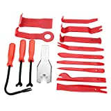 Fincos 15pcs Meter Door Molding Remover Panel Trim Clip Removal Tools Kit Red Set