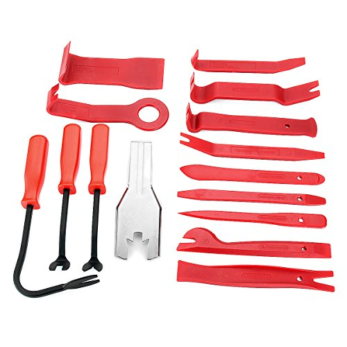 Fincos 15pcs Meter Door Molding Remover Panel Trim Clip Removal Tools Kit Red Set by Fincos (Image #1)