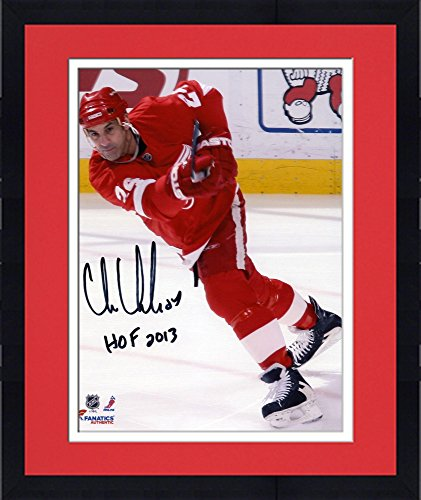 - Framed Chris Chelios Detroit Red Wings Autographed 8