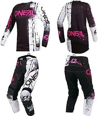 447da964e Amazon.com  O Neal Element Shred Pink Kids Youth motocross MX off-road dirt  bike Jersey Pants combo riding gear set (Pants 5 6 (22)   Jersey Kids Medium)   ...
