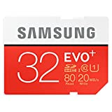 Samsung Electronics 32GB EVO Plus SDHC Upto 80MB/s Class 10 Memory Card (MB-SC32D)