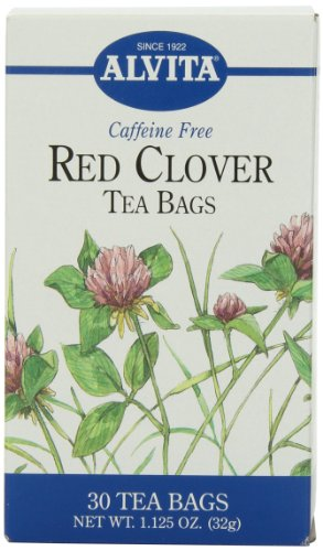 Alvita Tea Bags, Red Clover, Caffeine Free, 30 tea bags [1.125 oz (32 g)] (Pack of 3)