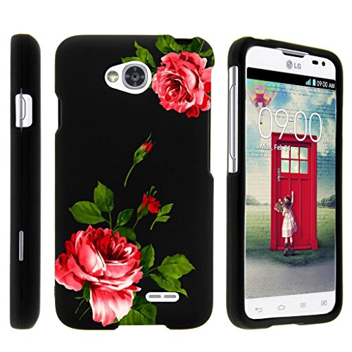 Miniturtle [LG Optimus L70 Case, Ultimate 2 Case, Optimus Exceed 2 Slim Cover] -[Snap Shell] 2 Piece Rubberized Slim Snap On Hard Plastic Case - Affectionate Flowers