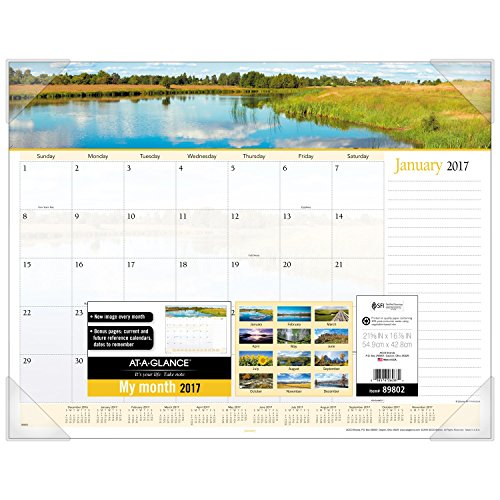 (AT-A-GLANCE Desk Pad Calendar 2017, Monthly, 21-5/8 x 16-7/8