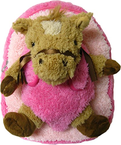 Kreative Kids Adorable Pink Horse Plush Backpack with Removable Stuffed -