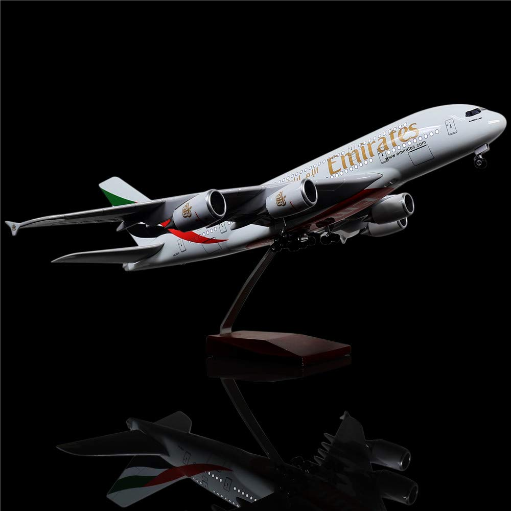 最新発見 LESES Emirates 1:160スケール LEDライトモデル 飛行機 United Arab Arab Emirates Airbus Airbus 380 18インチ 樹脂ディスプレイ飛行機モデル B07KTNSFVQ, 最安値級価格:22debed8 --- wap.milksoft.com.br