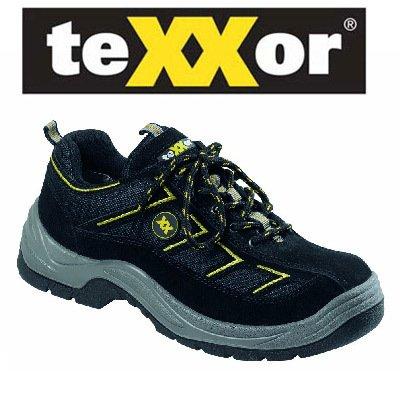 teXXor Sicherheitsschuhe S1 Metz leichte Arbeitsschuhe, 46, schwarz, 6113