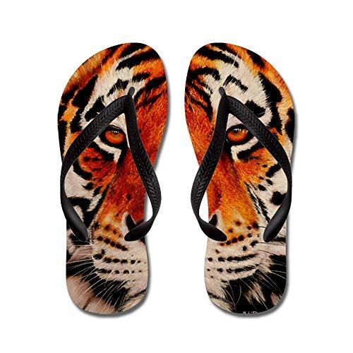 Cafepress Amur Tijger - Flip Flops, Grappige String Sandalen, Strand Sandalen Zwart