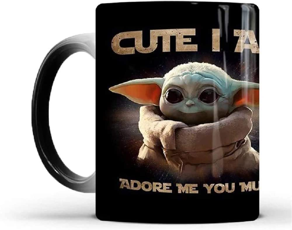 Star Wars Baby Yoda Color Changing Mug.The Mandalorian TV Series Coffee Mug.Great Gift for Christmas, Birthday, New Year.Fun cups that change color when heated