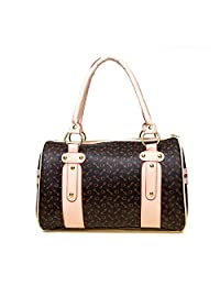 ZENTEII Women Faux Synthetic Leather Boston Handbag