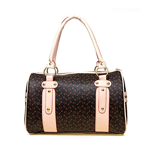 ZENTEII Women Faux Synthetic Leather Boston - Handbag Black Boston