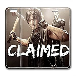 iCustomonline Leather Case for iPhone 6, The Walking Dead Daryl Ultimate Protection Leather Case for iPhone 6