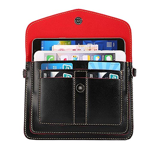 Price comparison product image Women's Horizontal PU Leather Shoulder Bag Wallet Purse Clutch for Apple iPhone X / 8 7 Plus / ZTE Nubia Z17 / Z17 Mini / Blade X Max / Max 3 / A2 Plus / V8 Pro / Max XL / Axon 7S / Hawkeye (Black)