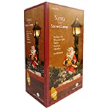 Sienna LLC Santa With Street Lamp Perfect On Window Sills, Tables, Shelves, Mantles