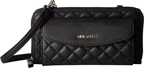 Nine West Women's Lucie Small Leather Goods Wallet on Chain Black One Size