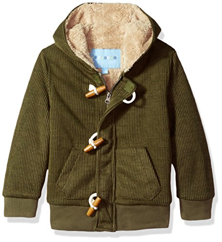 - Wippette Boys' Little Sweater Toggle Jacket, Olive, 5