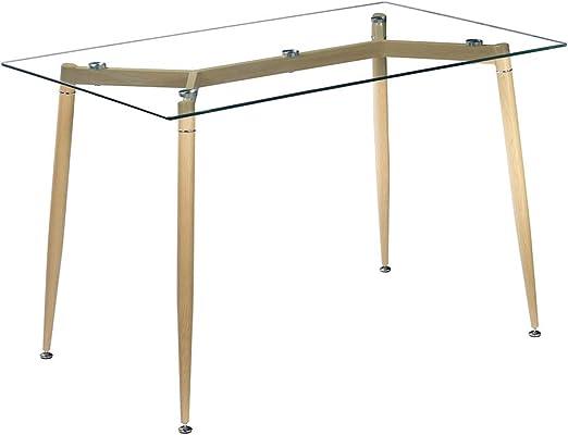 Mesa de comedor de cristal, Amailtom moderna minimallista, mesa de ...