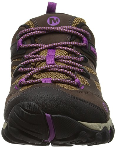 amp; Blaze Tex Braun Merrell Trekking Dark Out All Wanderhalbschuhe Vent Damen Brown Gore qwpU4W