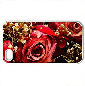 For SamSung Note 4 Case Cover WENJORS The Rose That Wanted to See the World Hard Case Protective Shell Cell Phone Cover For PC White