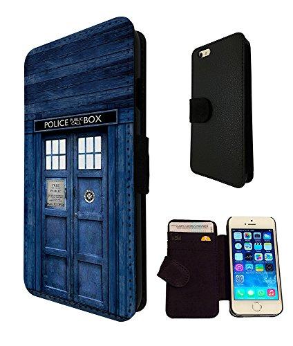 567 - Doctor Who Tardis Box Design iphone SE - 2016 Book Style Purse Wallet Pouch portefeuille Poche Flip Coque Flip Case Carte de crédit Coque