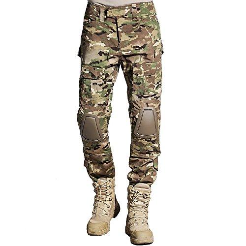 [SINAIRSOFT Tactical Pants Shirt with Knee Pads Army Airsoft Combat BDU Pants Shirt MC (Pants, S)] (Bdu Tactical Pants)
