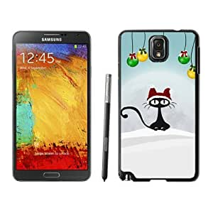 diy phone caseHot Sell Design Christmas Retro Cat Black Samsung Galaxy Note 3 Case diy phone case1