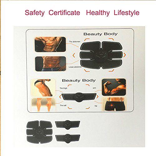 Abdominal Trainers Waist Trimmers Intelligent Fitness Exercise Set Slimming Instrument Belt 3 Host by FIINSS (Image #8)