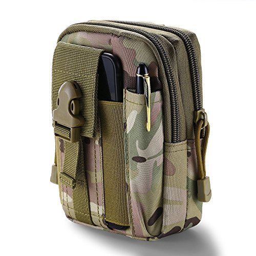 WEICHUAN Universal Multipurpose Tactical Cover Smartphone Holster EDC Security Pack Carry Case Pouch Belt Waist Bag Gadget Money Pocket (Camouflage-1) (Gadget Bag 1)