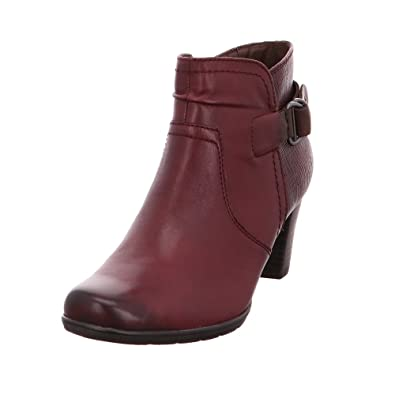 the best attitude 3b021 b043d Jana Damen Stiefelette BORDEAUX (Rot) 8-8-25347-29/549 ...