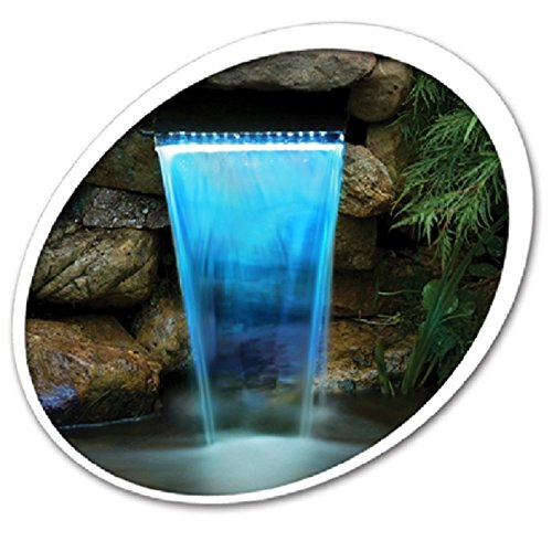 Tetra Pond 26596 Waterfall Filter 12'' With LED Colorchanging Light With Remote 19765 by Tetra Pond