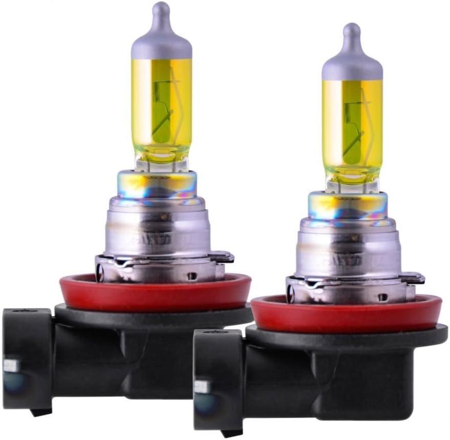 2500K - 12V 55W 2 Pack PIAA 22-13411 Solar Yellow H11 Light Bulb