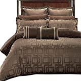 What Is the Measurements of a California King Size Bed Luxury Egyptian Bed N Bag 8PC Janet Duvet Cover Set Plus Down Alternative Insert, King/California King