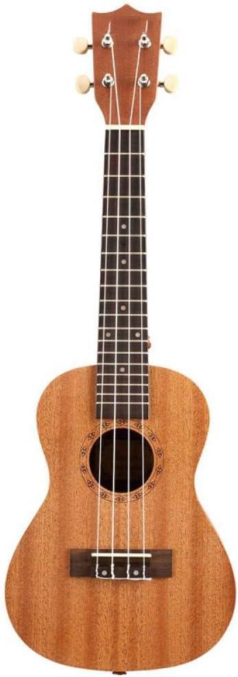 ZGHNAK Ukelele 23 pulgadas 15 trastes Sapele Concierto Ukelele Guitarra Palo de rosa 4 cuerdas Guitarra Instrumentos musicales