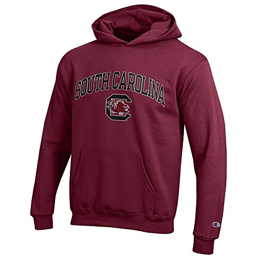 Elite Fan Shop South Carolina Gamecocks Kids Hooded Sweatshirt Arch Garnet - M