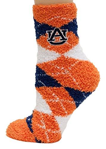 NCAA Auburn Tigers Argyle Fuzzy Socks, One Size, Blue by Donegal Bay