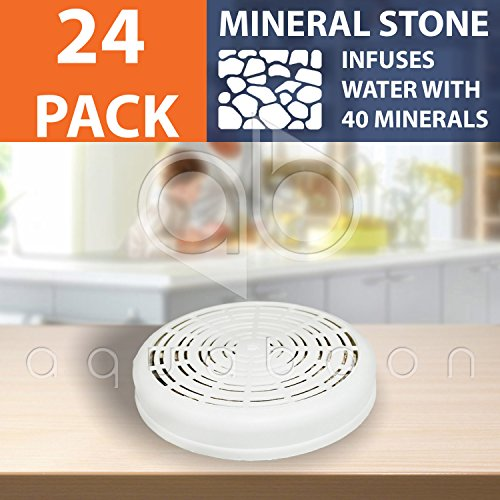 24-PACK of Mineral Stone Case Replacement for Zen, LeDoux, Santevia Water Filter Systems by Aquaboon by Aquaboon