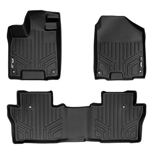 MAXLINER Floor Mats 2 Row Liner Set Black for 2016-2019 Honda Pilot
