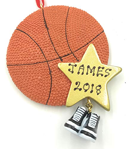 Personalized Sports BasketBall Christmas Ornament -Free