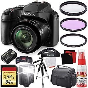 Flashandfocus.com 51w0J27L5bL._SS300_ Panasonic Lumix DC-FZ80 Digital Camera + Carrying Case + 64GB Memory Card Bundle
