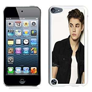 Lovely and Durable Cell Phone Case Design with Justin Bieber Baby Song iPod Touch 5 Wallpaper in White