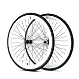 700c tires and rims - 6KU 700C Deep V Alloy Fixie Wheelset, Gloss White