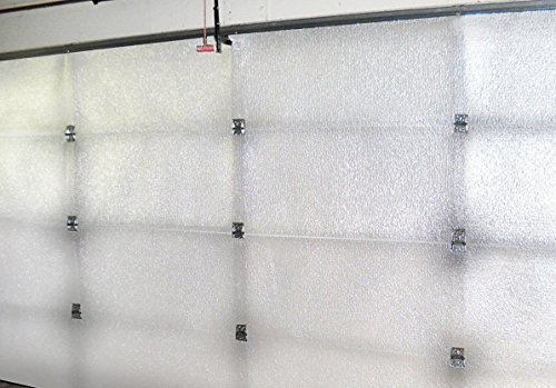 NASA US Tech Reflective White Foam Core Garage Door Insulation Kit 8L x 7H (Foam Tech Insulation)