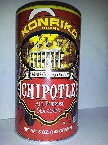 Konriko NO MSG Chipotle All Purpose Seasoning 5oz Canister (Pack of 3)